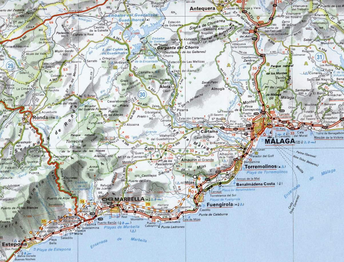 Carte Espagne Benalmadena.Torremuelle Benalmadena Costa